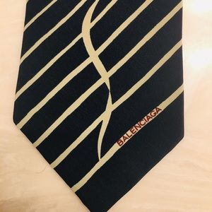 Balenciaga tie signed. Used 1 x fashion show